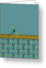 Dragon Fly Nouveau Greeting Card by Jenny Armitage