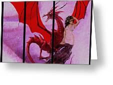 Dragon Power-featured In Comfortable Art Group Greeting Card