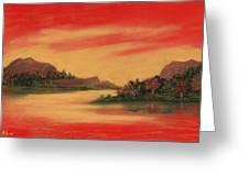 Dragon Sunset Greeting Card