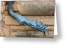 Dragon Waterspout  Chateau De Cormatin Greeting Card