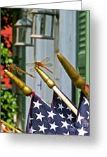 Dragonflies In Full Salute Greeting Card