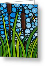 Dragonfly Pond By Sharon Cummings Greeting Card