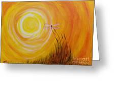 Dragonfly Sun Greeting Card