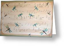 Dragonfly Symphony Greeting Card