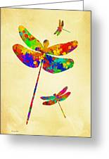 Dragonfly Watercolor Art Greeting Card