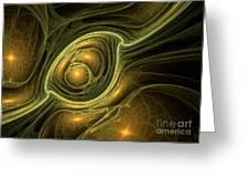 Dragon's Eye - Abstract Art Greeting Card