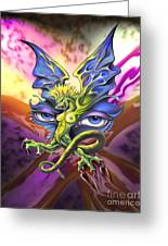 Dragons Eyes By Spano Greeting Card