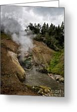 Dragon's Mouth Spring - Yellowstone Greeting Card