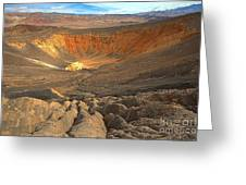 Draining Into The Crater Greeting Card