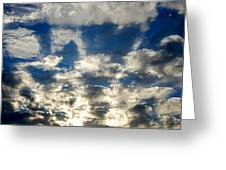 Drama Cloud Sunset I Greeting Card