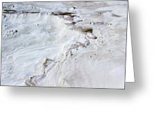 Dramatic Abstract At White Sands Greeting Card
