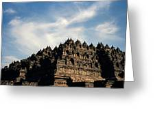 Dramatic Ancient Borobudur  Greeting Card