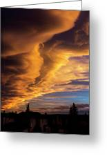 Dramatic Colourful Clouds At Sunset Greeting Card