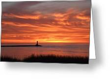 Dramatic Flaming Sunset Greeting Card