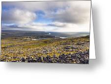 Dramatic Landscape Of The Aran Islands Greeting Card
