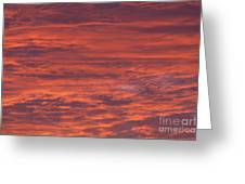 Dramatic Red Sky Greeting Card