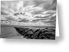 Dramatic Sky At Penfield Jetty Greeting Card
