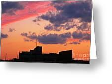 Dramatic Sky Dwarfs Halifax Skyline Greeting Card