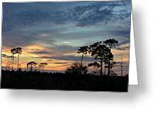 Dramatic Sunset In The Cove Greeting Card