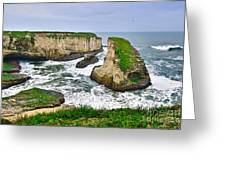 Dramatic View Of Shark Fin Cove In Santa Cruz California. Greeting Card
