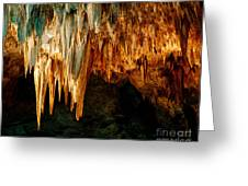 Draperies And Stalactites Greeting Card