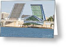 Draw Bridge Greeting Card