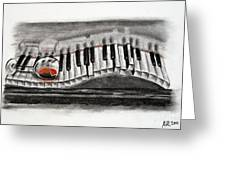 The Piano Has Been Drinking... Greeting Card