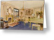 Drawing Room Adam Revival Style Greeting Card