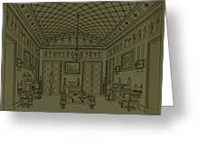 Drawing Room With Egyptian Decoration Greeting Card