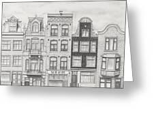 Drawn To Amsterdam Greeting Card