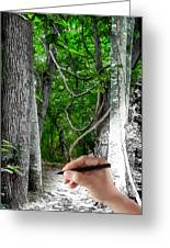 Drawn To The Woods With Imagination Greeting Card