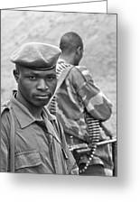 Drc Defense Force Soldier Greeting Card