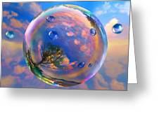 Dream Bubble Greeting Card by Robin Moline