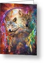 Dream Catcher - Wolf Spirits Greeting Card