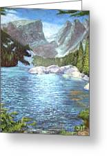 Dream Lake Greeting Card by Ron Bowles