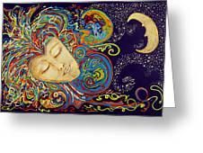 Dream Mask Greeting Card by Nickie Bradley