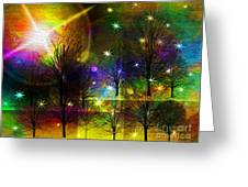 Dream Time In The Park Greeting Card by Sydne Archambault