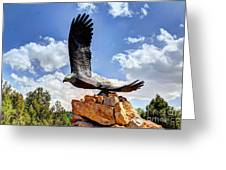 Dream Your Eagle And Fly With Him Greeting Card