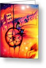 Dreamcatcher Greeting Card by Ruben Santos