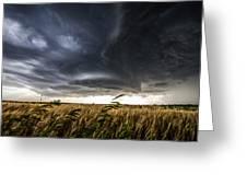 Dreamcatcher - Scenic Storm Over Kansas Plains Greeting Card