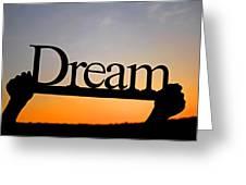 Dreaming At Sunset Greeting Card