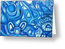 Dreaming In Blue Greeting Card