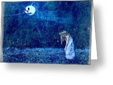 Dreaming In Blue Greeting Card by Rhonda Barrett