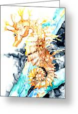 Dreaming Of A Seahorse  Greeting Card