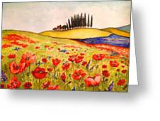 Dreaming Of Tuscany Greeting Card