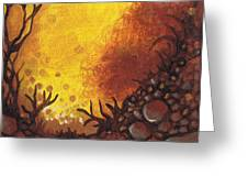 Dreamscape In Fall Tones #3 Of 4 Greeting Card
