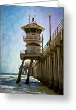 Dreamy Day At Huntington Beach Pier Greeting Card