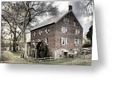Dreary Skies At Kerr Gristmill Greeting Card