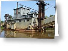 Dredging For Gold Greeting Card