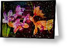 Drenched Flowers Greeting Card